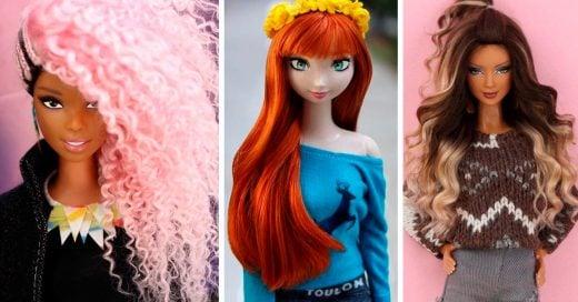 Artista brasileño transforma muñecas con increíbles y envidiables melenas