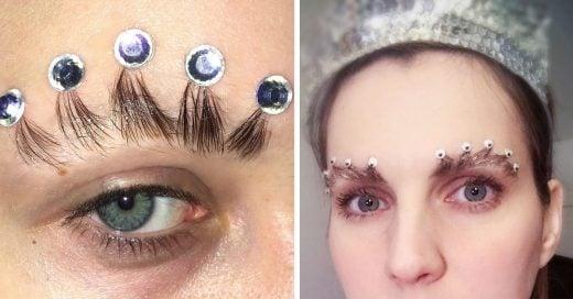 La nueva tendencia de cejas dejó atrás a las plumas y ahora usa una corona