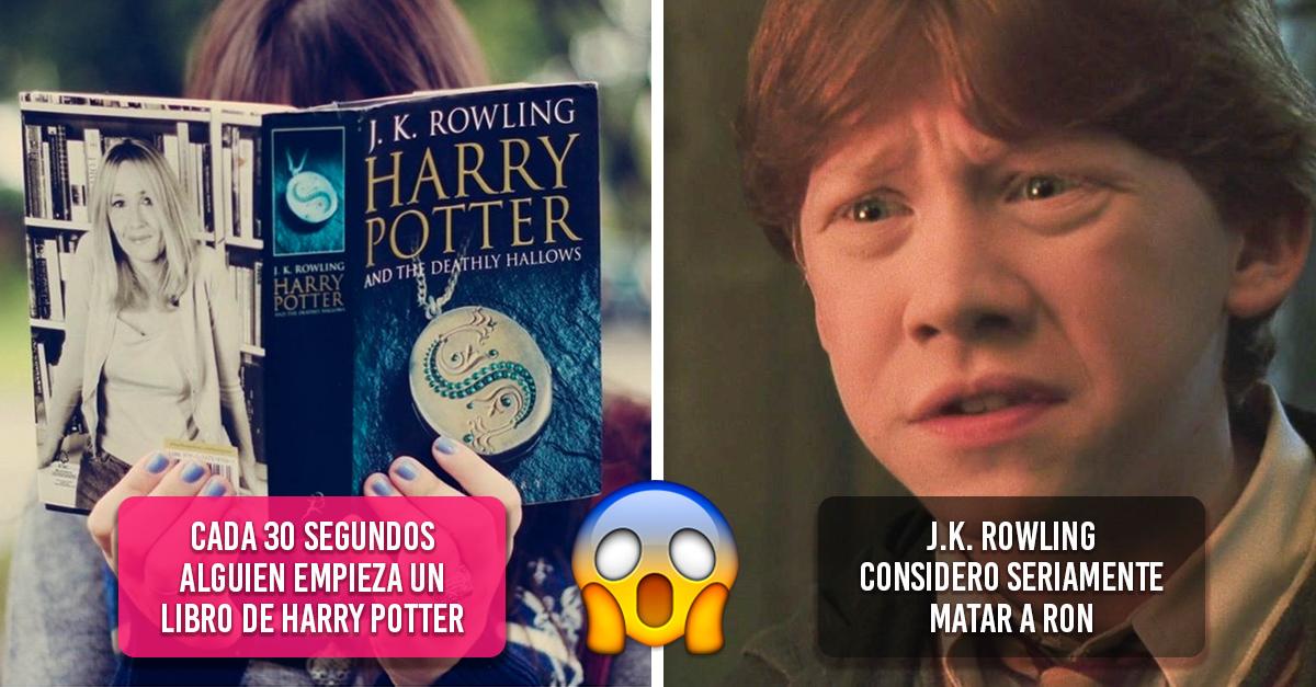 20 Datos curiosos de los libros de Harry Potter que toda fan debe conocer