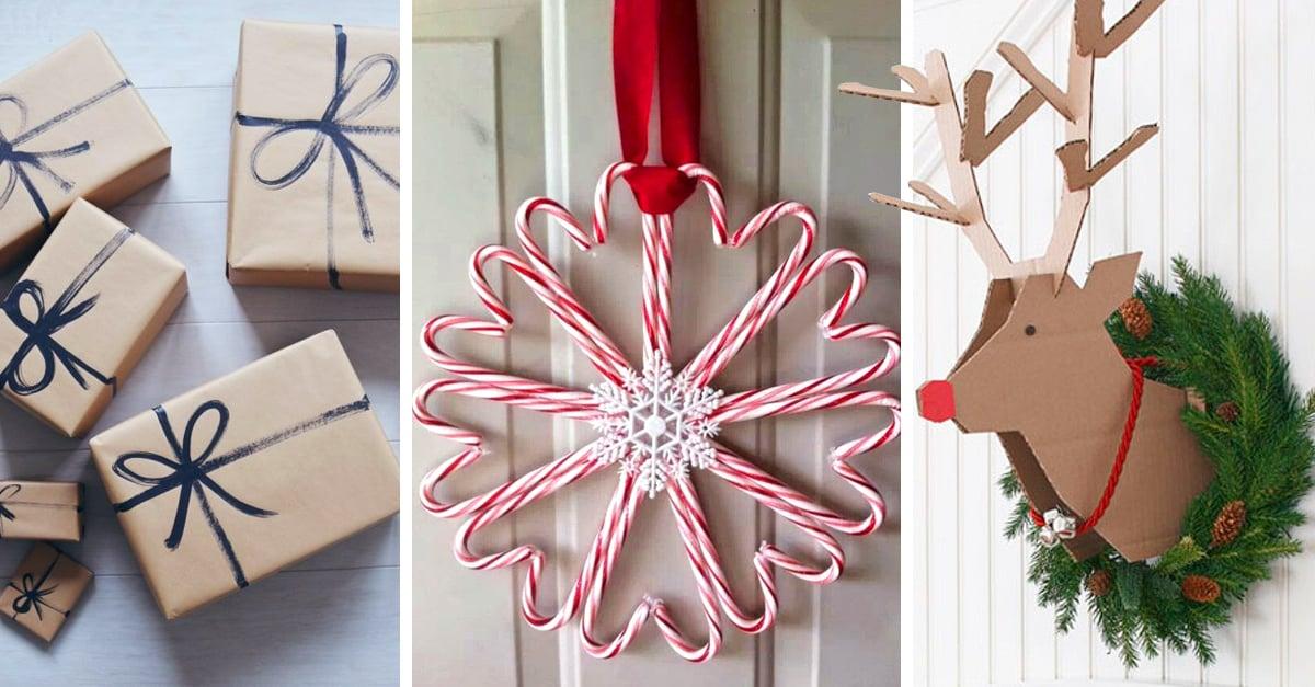 15 Preciosos adornos navideños sencillos de hacer y sin gastar mucho dinero