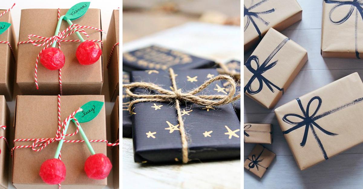 15 ideas originales para envolver tus regalos esta navidad for Envolturas para regalos