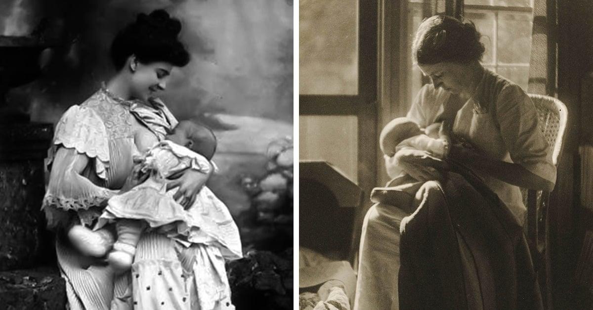 Mujeres alimentando a sus hijos en el siglo XIX, antes de convertirse en tema tabú