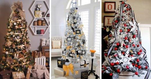 15 Lindas ideas con las que puedes decorar tu árbol navid