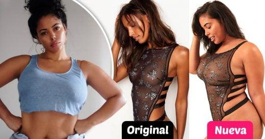 Recreó fotos de Victoria's Secret para demostrar que las chicas con curvas también son hermosas