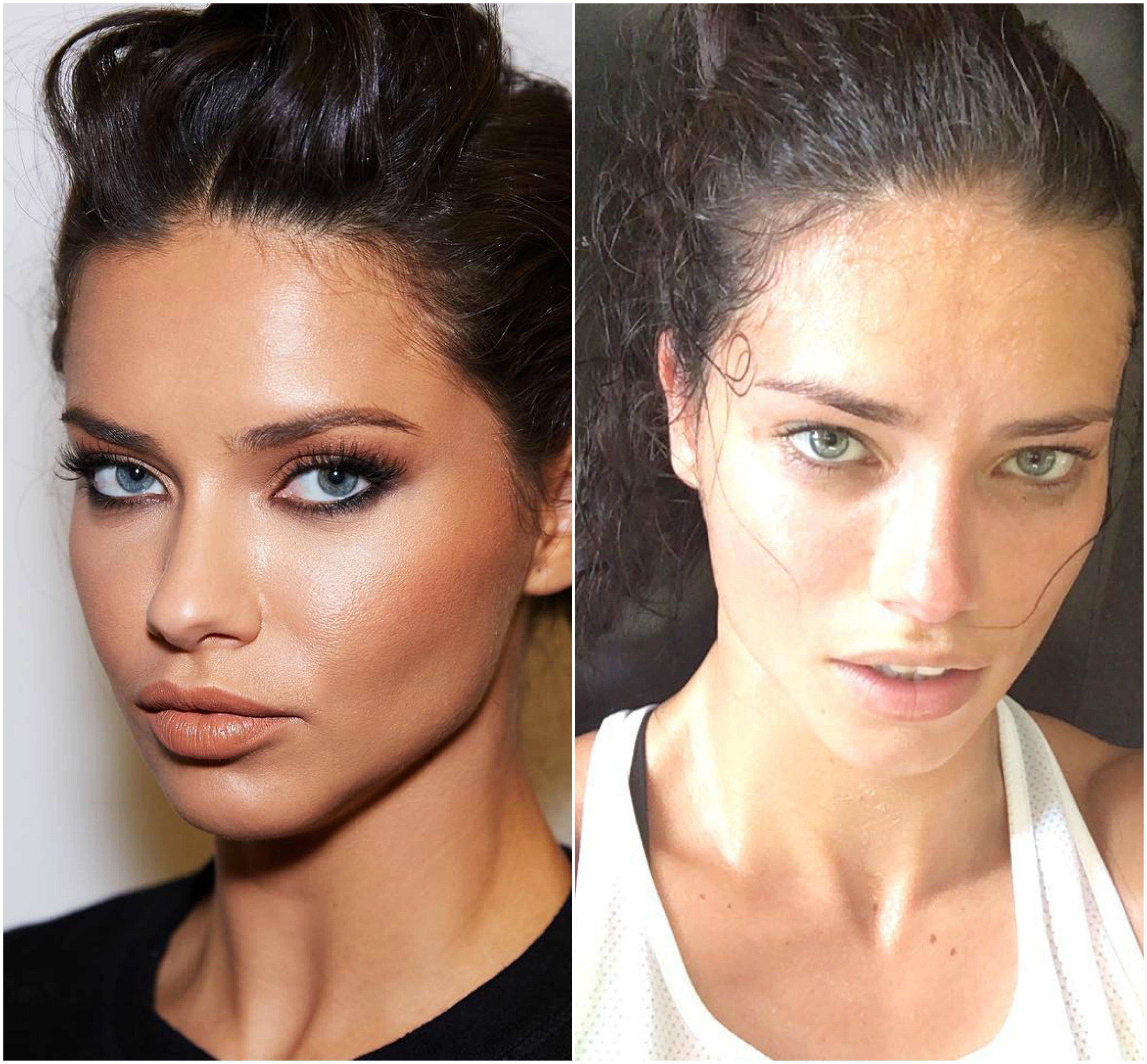 20 Famosas modelos en su vida diaria sin maquillaje