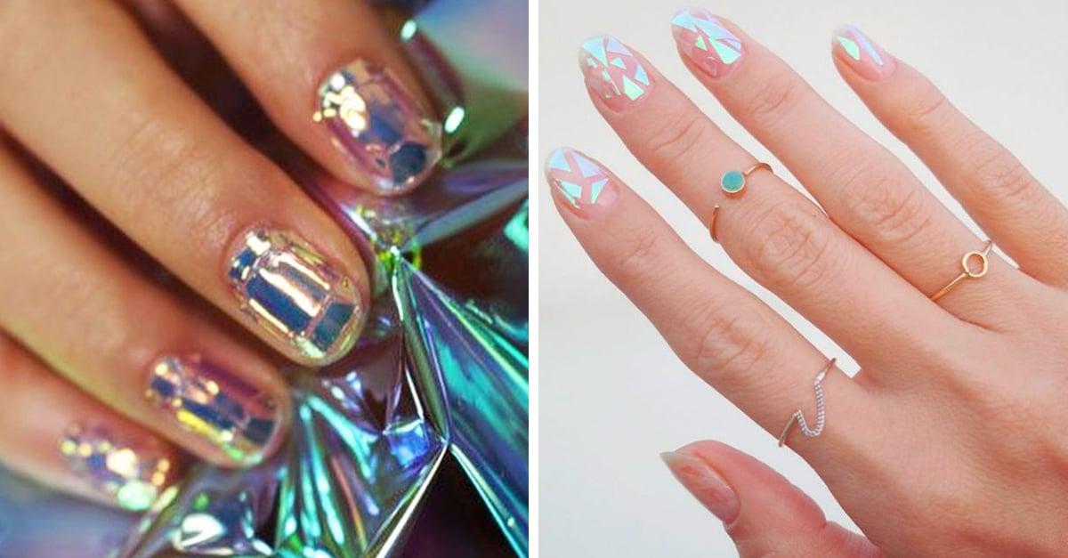 Las u as cristal son la ultima tendencia coreana en manicura for Unas decoradas con piedras de cristal