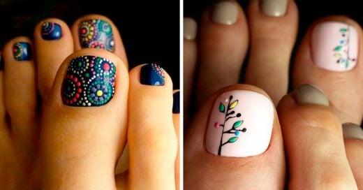 20 Diseños de uñas de los pies que te harán desear mostrarlos