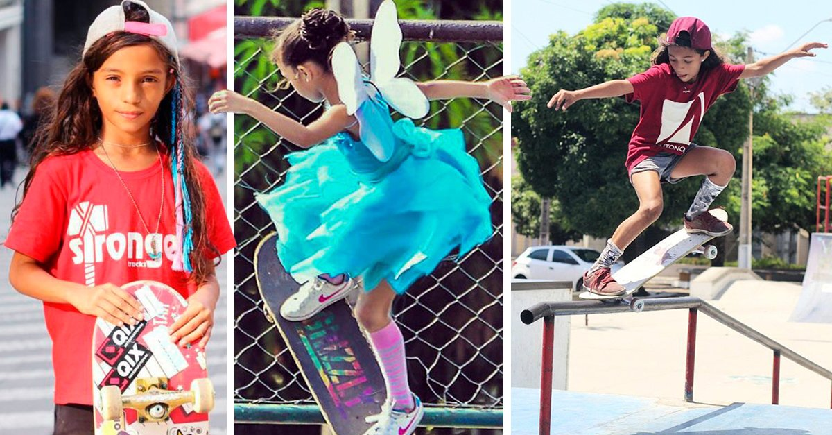 """Ella es Rayssa Leal, mejor conocida como """"el hada del skate"""""""