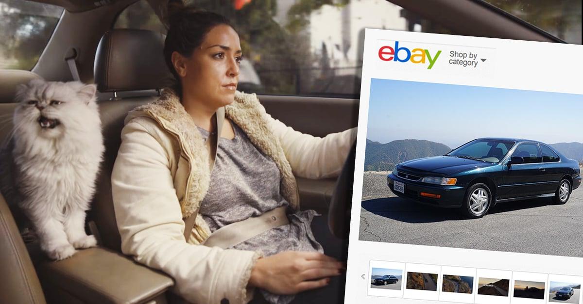 Su novio la ayudó a vender su vehículo y lo hizo de la manera más original