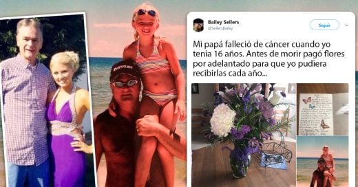 Este hombre murió de cáncer, pero preordenó flores para que su hija las recibiera cada cumpleaños