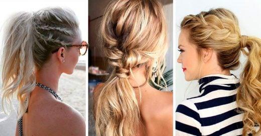 15 Peinados con cola de caballo que puedes hacerte tu misma