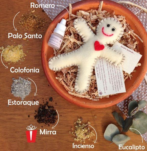 muñeco d trapo con semillas dentro