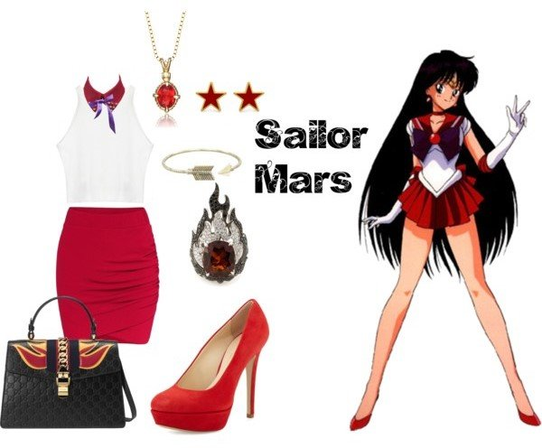 Outfit inspirado sailor mars