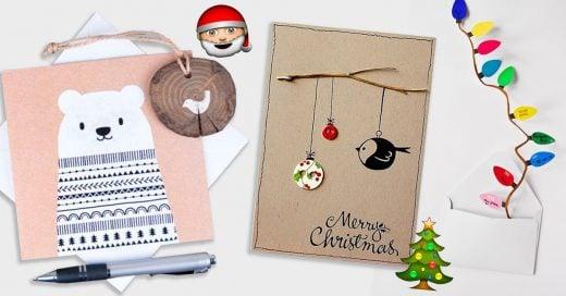 Originales tarjetas navideñas que puedes elaborar tú misma