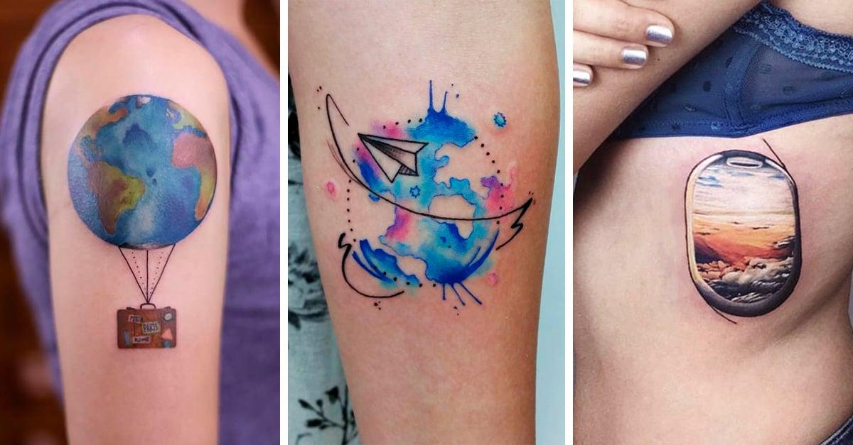 17 Increíbles tatuajes que mostrarán tu amor por las viajes sin usar una sola palabra