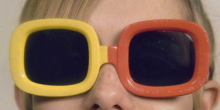 gafas de sol bicolores