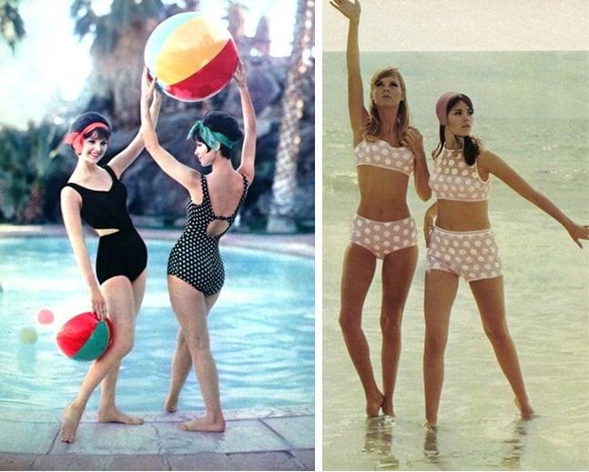 chicas usando bikini en la playa