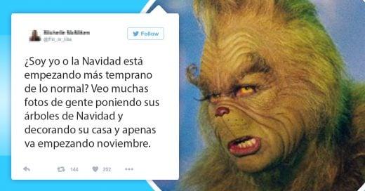 15 Tuits que solo entenderás si también odias la Navidad; noviembre no es un mes para comenzar a recibir regalos