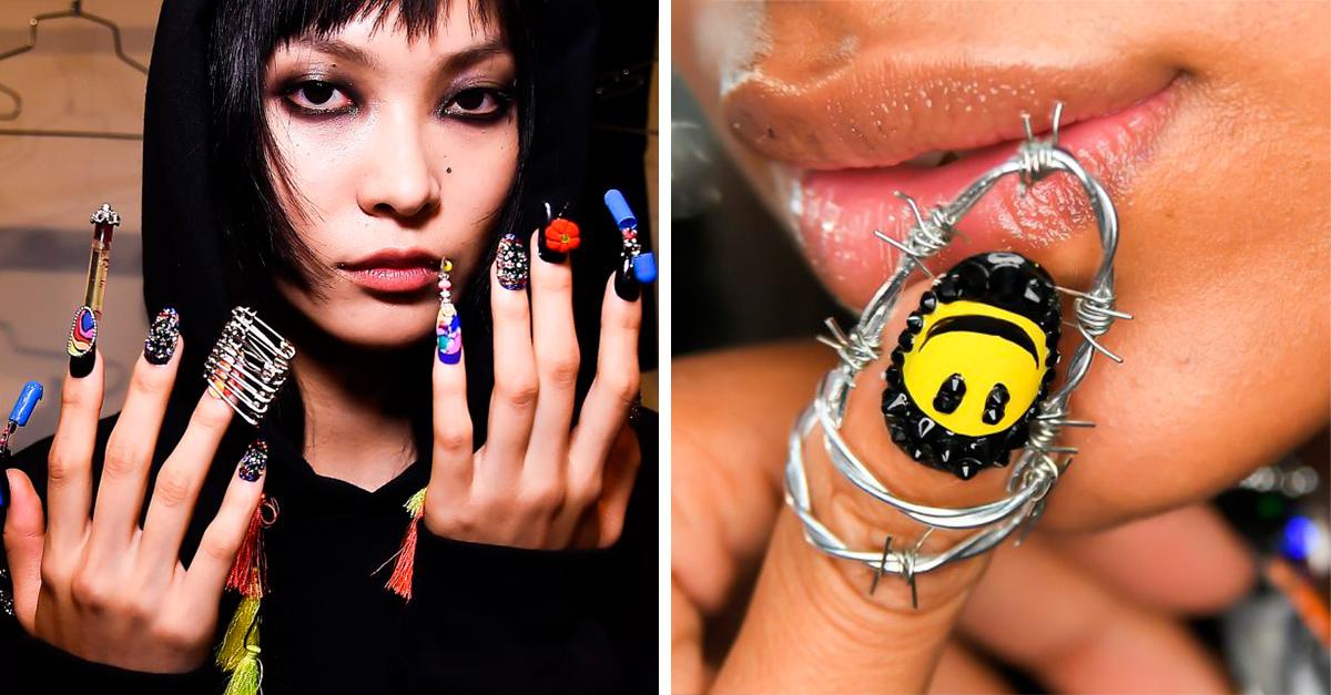 20 Diseños de uñas que jamás te atreverías a usar; son realmente extrañas