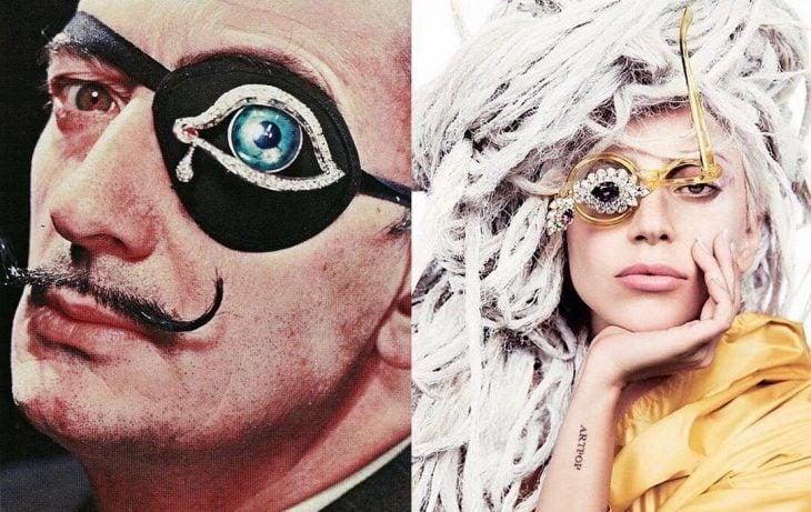 Lady Gaga y Salvador Dali