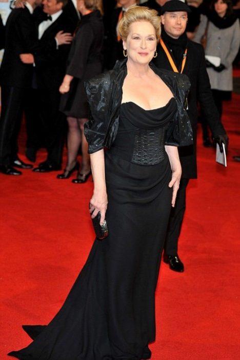 Meryl Streep vestira de negro en los golden globes