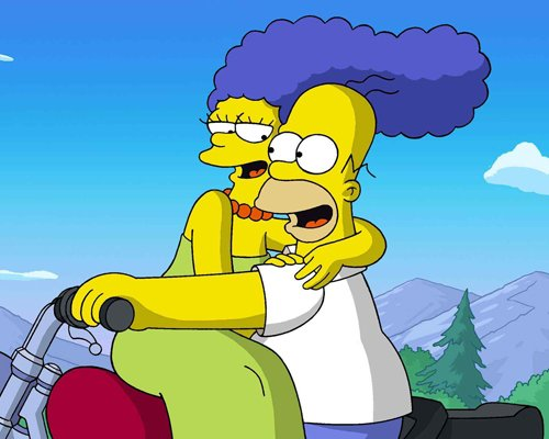 Marge y Homero