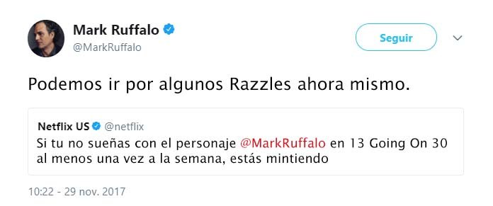 Tuit Mark Ruffallo