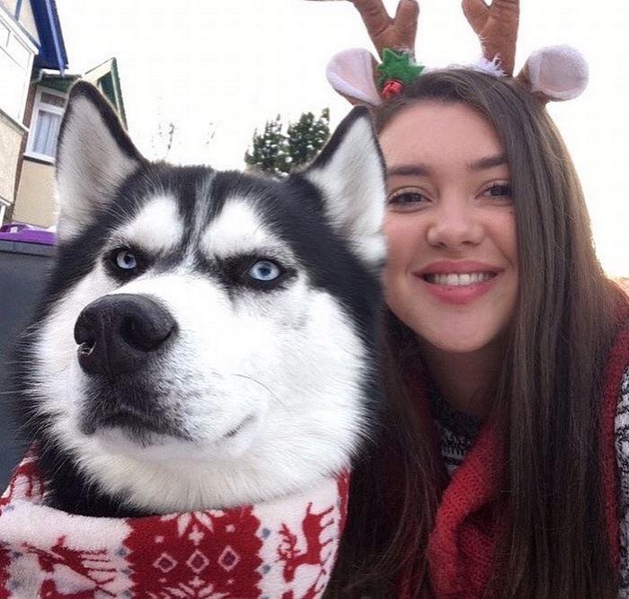 Anuko tarjeta navideña y Jasmine