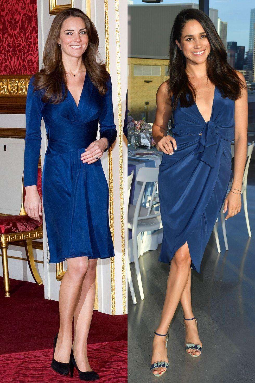 Vestido azul princesa kate