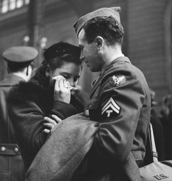 Despidiendo a las tropas en Nueva York, 1943