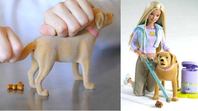 Barbie y Tanner el perro