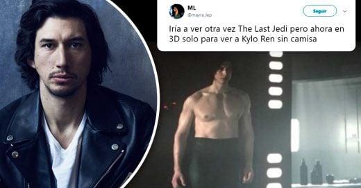 Adam Driver apareció sin camisa en la última entrega de Star Wars y sus bíceps enloquecen a Internet