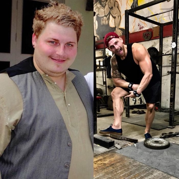 Antes y después de personas que han bajado de peso