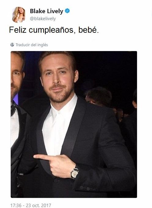Blake Lively deseando feliz cumpleaños a su esposo