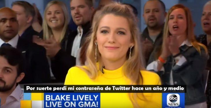 Blacke lively dando una entrevista en un programa de televisión