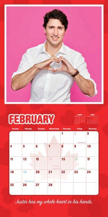Calendario de Justin Trudeau
