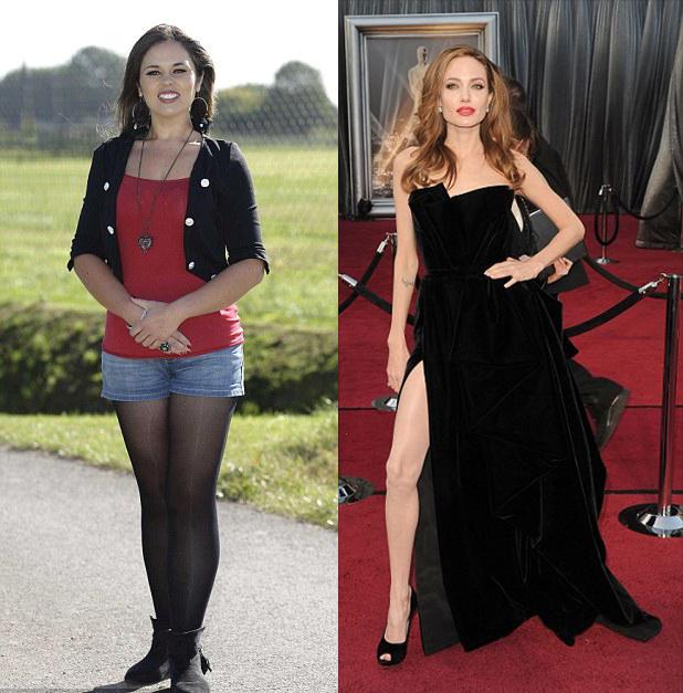 Chica que asegura que es idéntica a Angelina Jolie