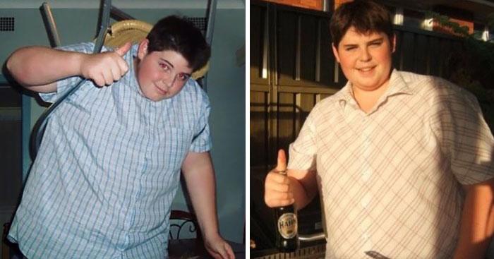 Chico que perdió 71 kilos y se convirtió en un sexi y ardiente bombero