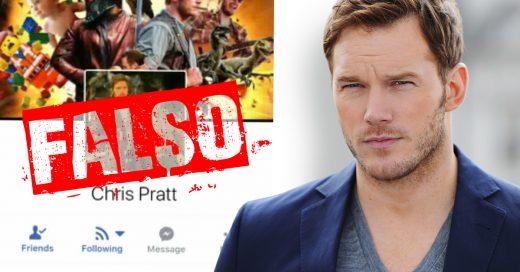 Chris Pratt se preocupa por sus fans y las alerta de un impostor que usa su nombre