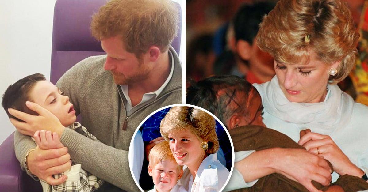 El príncipe Harry demuestra que es digno hijo de la princesa Diana