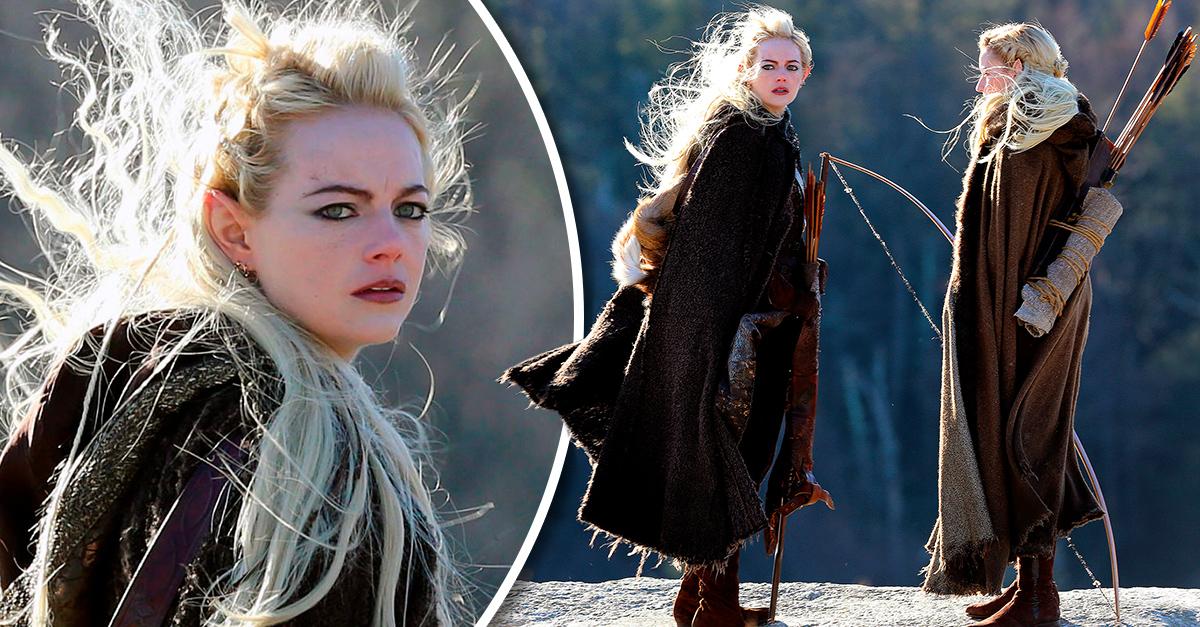 Emma Stone luce como un elfo para su nuevo proyecto: Maniac
