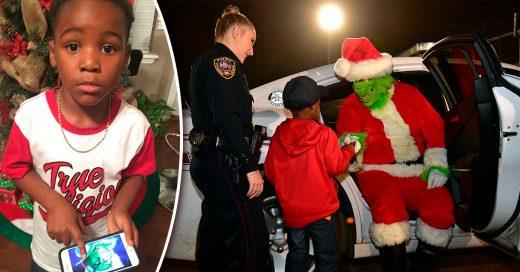 Este niño llamo a la policía para que arrestaran al 'Grinch'; su acto ha mantenido la Navidad a salvo