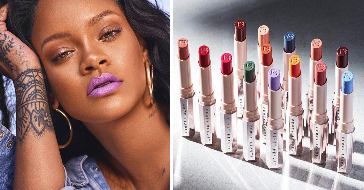 Rihanna acaba de añadir nuevos tonos de lipstick a sus línea Fenty Beauty; todos son seductores