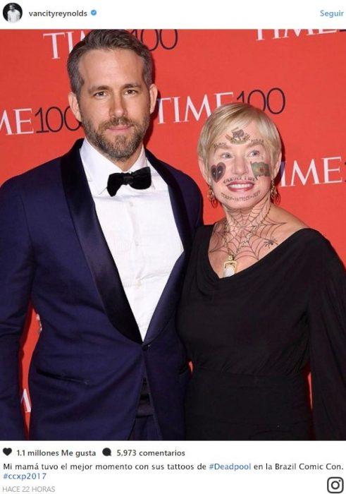 Instagram de Ryan Reynolds Troll su mamá