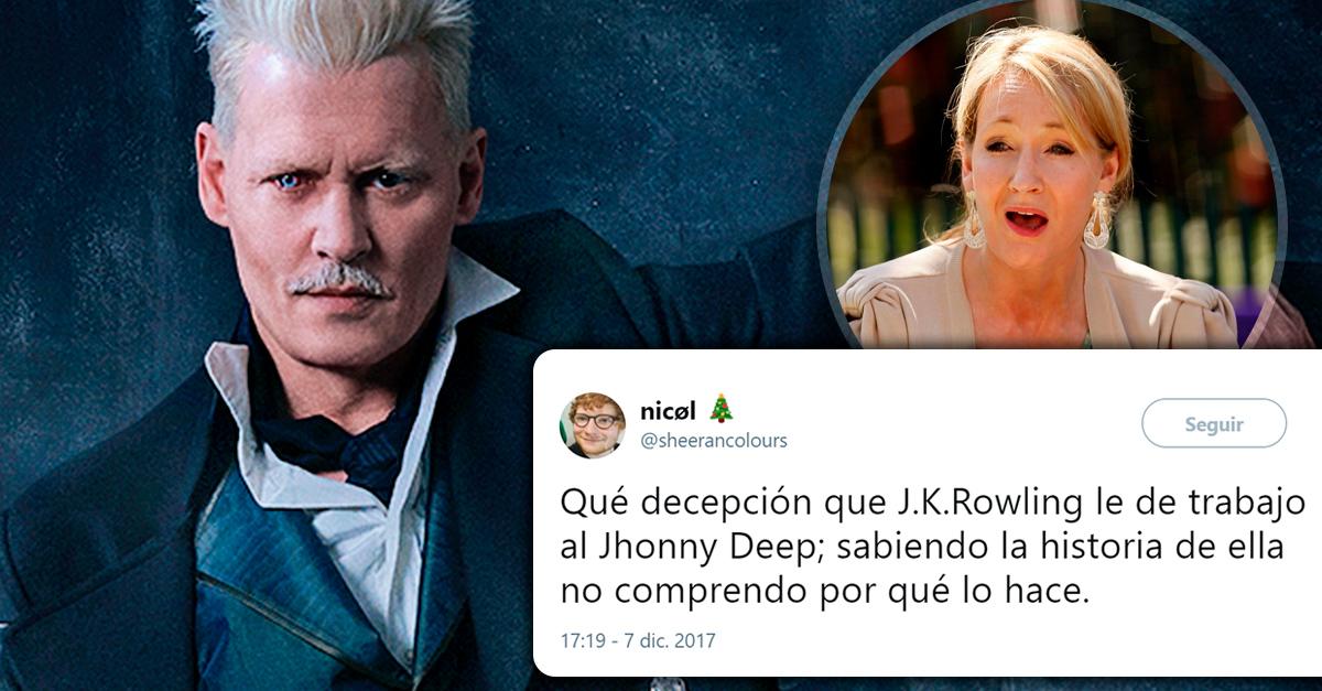J.K. Rowling no sacará a Johnny Depp de 'Animales Fantásticos 2'; la autora responde las críticas