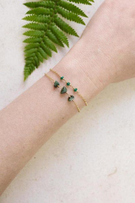 pulsera de esmeraldas