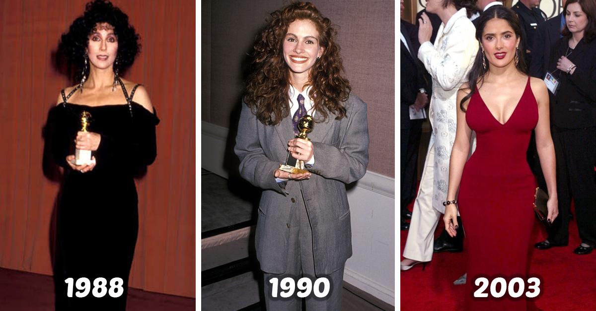 Los vestidos más memorables de los Golden Globes según el año en que naciste