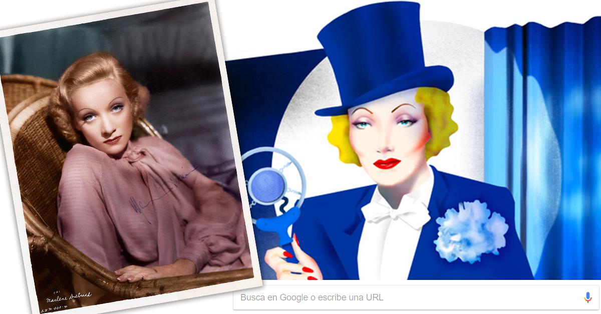 Marlene Dietrich la femme fatale de Hollywood y Doodle del día