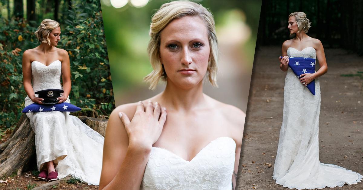 Mataron a su prometido pero ella pidió tener una sesión de fotos para honrar su memoria