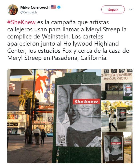 Campaña de desprestigio en contra de Meryl Streep